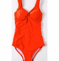 Twist Front Swimsuit, Tropical Orange,Hibiscus