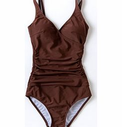 Wrap Front Swimsuit, Mocha,Dark Turquoise 33923749