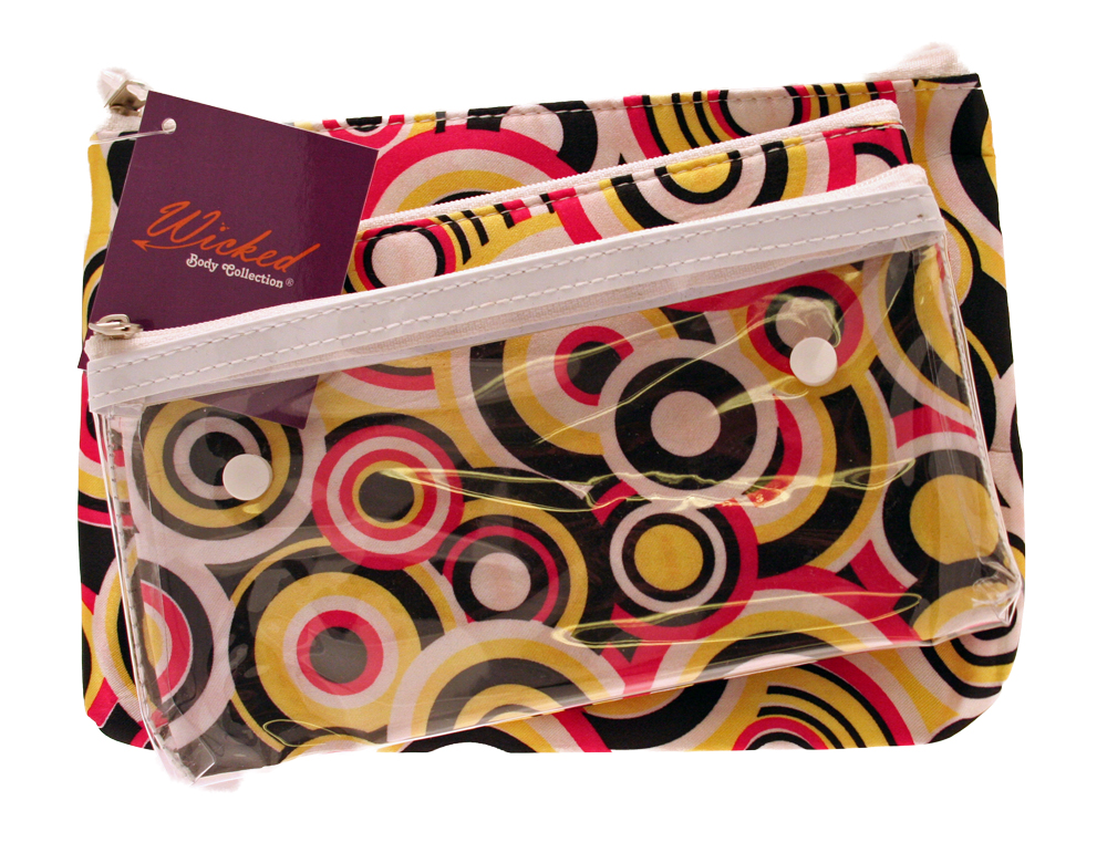 Funky Cosmetic Bag Trio