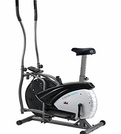 Dual Action 2-in-1 Air Elliptical and Bike - Silver/Black, 91 x 57 x 156 cm