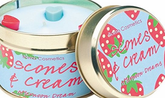 Bomb Cosmetics Scones and Cream Tin Candle