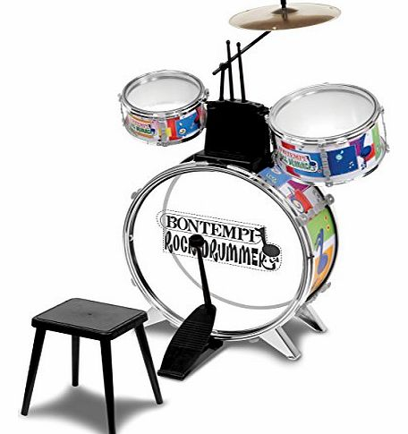 Rock Drummer Drum Set with Stool