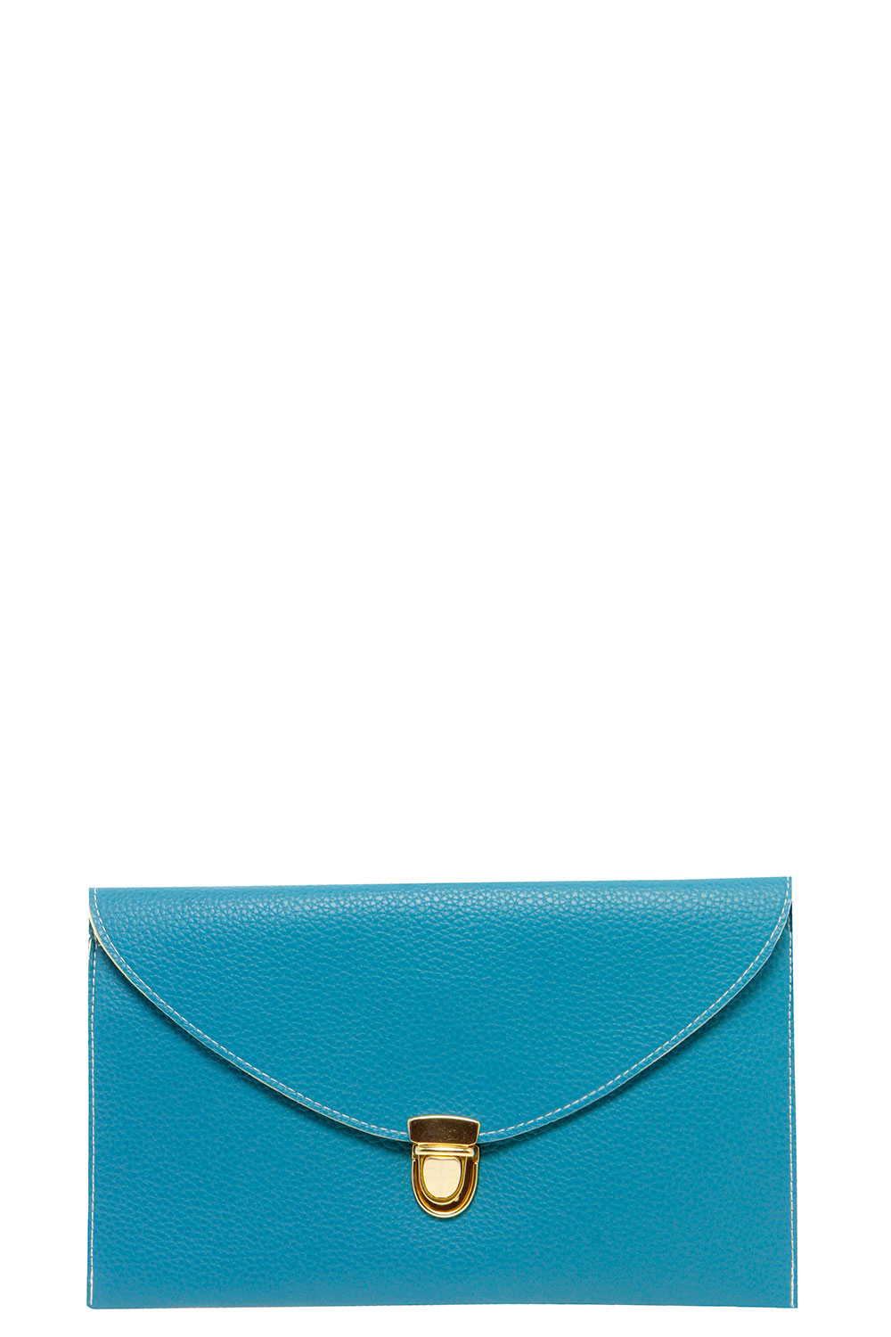 Lily Clasp Fasten Clutch Bag - blue