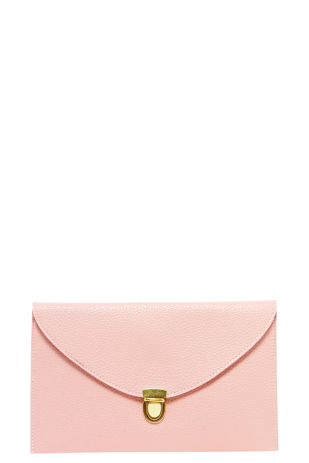 Lily Clasp Fasten Clutch Bag - pink