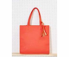 Structured Shopper Bag - coral azz12154