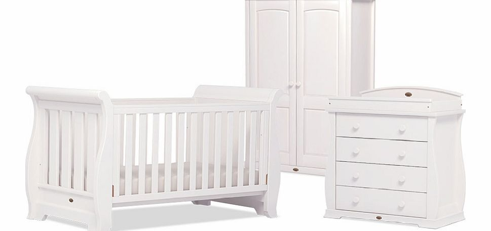 Boori 3 Piece Sleigh Roomset White