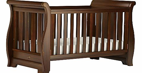 Sleigh Cotbed, English Oak
