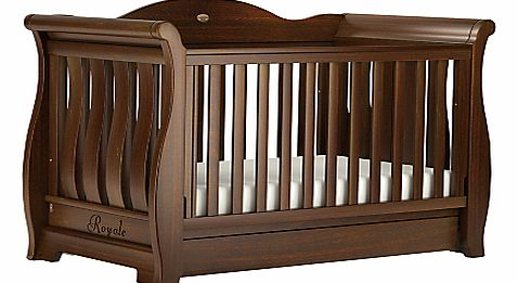 Sleigh Royale Cot/Cotbed, English Oak