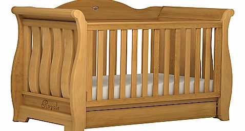Sleigh Royale Cot/Cotbed, Heritage Teak