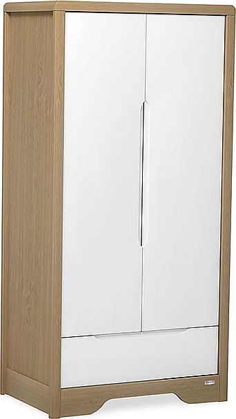 Urbane Deco Wardrobe-White & Almond
