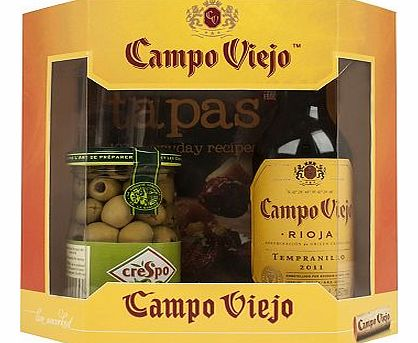 Campo Viejo Tapas Recipe Book and Olives Gift