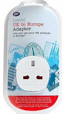 UK to Europe Travel Plug Adaptor 10152591