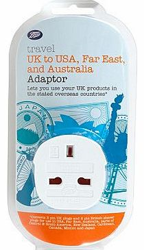 UK to USA and the Far East Travel Adaptor