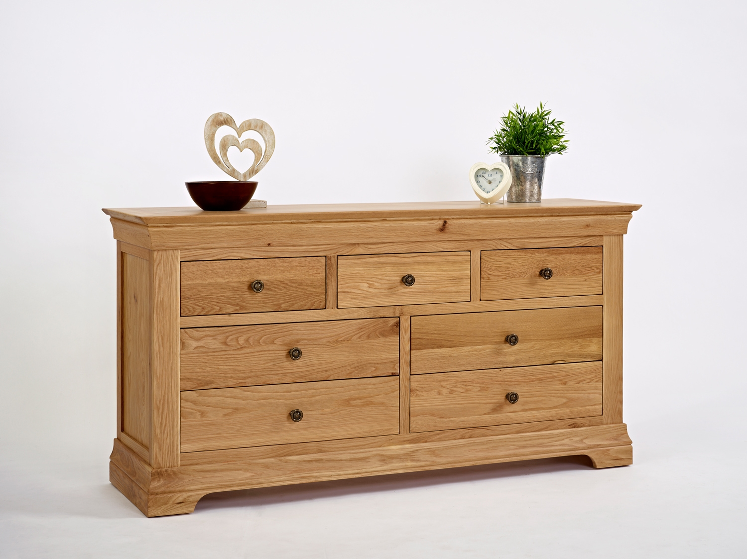 Oak 3+4 Chest of Drawers