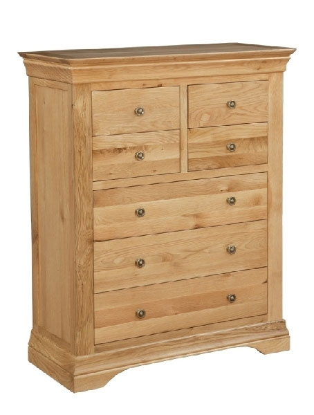 Oak 4+3 Chest of Drawers