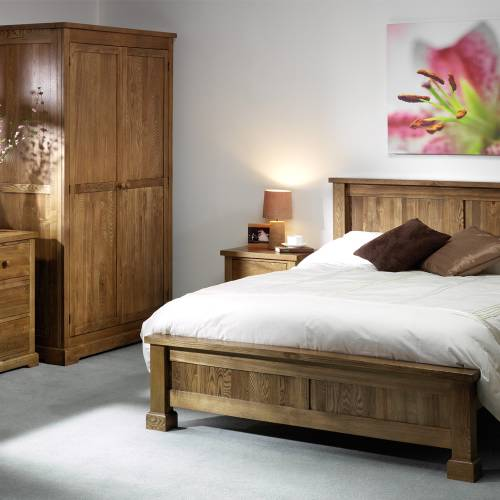 Bordeaux Oak Bedroom Set + 4` Bed
