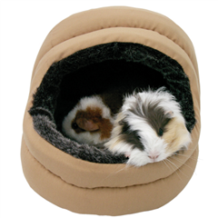 2 Way Snuggles Hooded Bed for Guinea Pigs and Rabbits by Boredom Breaker
