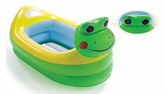 Boriyuan Candy Sunshade Baby Toddler Float Seat Boat Swim Pool Frog Pattern Hot Inflatable Tub