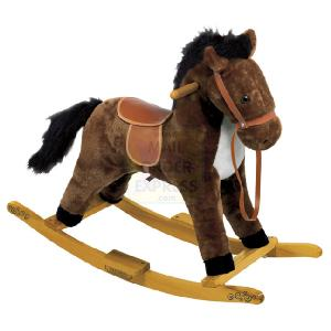 42cm Dark Brown Rocking Horse