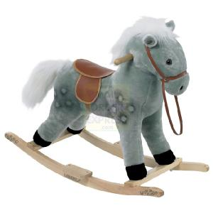 42cm Grey Rocking Horse