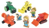 Dan Jam Bob The Builder Wooden Vehicles And Characters