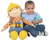 Giant 70cm Bob The Builder With Pilchard Beanie