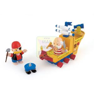 Odd Bodz The Sea Dragon Pirate Ship with 2 Figures