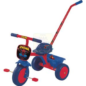 Spiderman Trike With Parent Pole