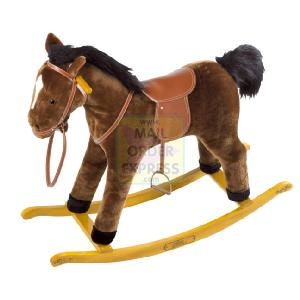 The Pony Stable 60cm Rocking Pony Brown