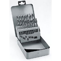 19 Piece Set In Metal Box Metal Drill Bits - Hss-G