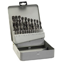 25 Piece Set In Metal Box Metal Drill Bits - Hss-G