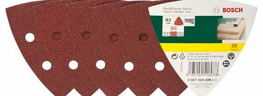 2607019489 25 Piece Sanding Pad Set for Delta Sanders Grain: 80