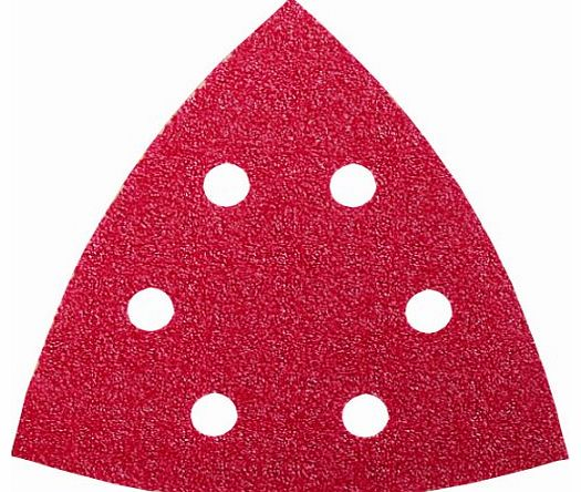 2609256A48 Set of 5 Abrasive Pads for Delta Sanders Diameter 93 mm 6 Holes Grain 40