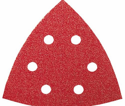 2609256A56 Sanding Sheets for Delta Sanders Diameter 105 mm Number of Holes 6 Grit Size 60 Pack of 5 Sheets