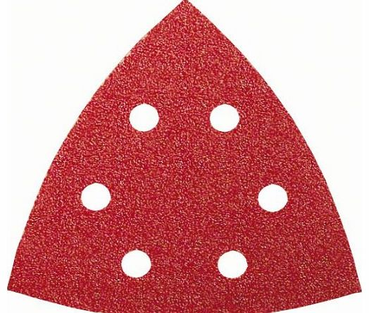 2609256A59 Sanding Sheets for Delta Sanders 105 mm 6 Holes Grit 120 Pack of 5 Sheets