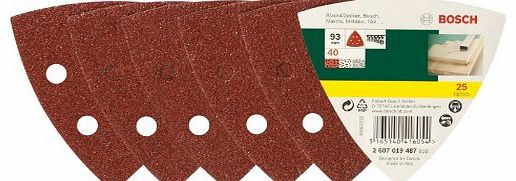 Accessories 2607019487 25-Piece Sanding Sheet Set for Delta Sander Grit 40