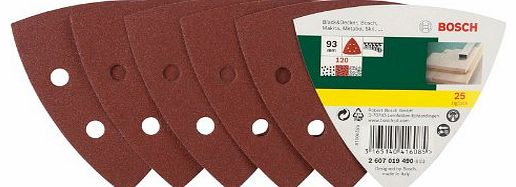 Accessories 2607019490 25-Piece Sanding Sheet Set for Delta Sanders Grit 120