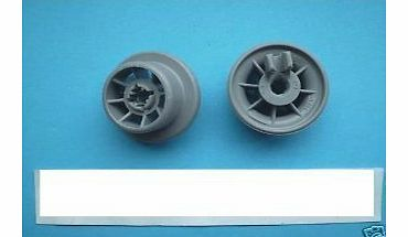 BOSCH NEFF GENUINE DISHWASHER BASKET WHEELS X2 1801311