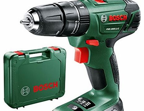 PSB 1800 LI CORDLESS COMBI HAMMER DRILL BODY ONLY + CARRYING CASE, REPLACES OLDER PSB18LI2 BODY NEW COMPACT POWERFULL MODEL, COMPATIABLE WITH ALL POWER4ALL TOOLS, BATTERIES AND CHARGERS AVALIABL