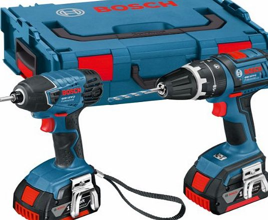 GSB18V-LI 18V Li-Ion Cordless Dynamicseries Combi Drill/ Impact Driver with 2 x 4Ah Batteries