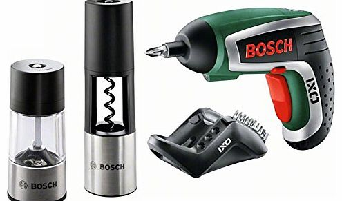 IXO Gourmet Cordless Lithium-Ion Screwdriver with Corkscrew Attachment and Salt/ Pepper/ Spice Mill Attachment 2012 Edition