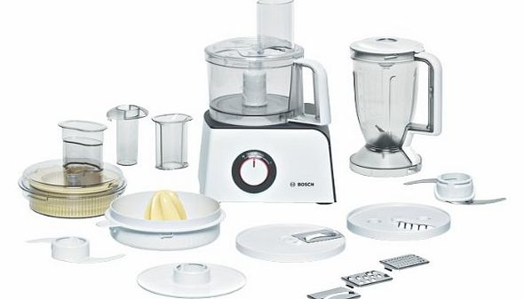 MCM4100 Compact Food Processor, White/Anthracite Finish