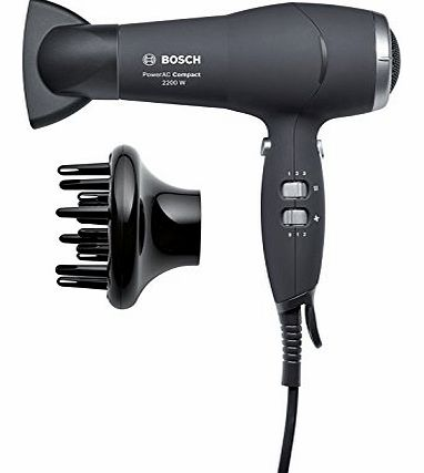 Pro-Salon Compact 2200W AC Hair Dryer with 2 speed and 3 temperature settings.