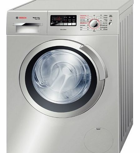 Wash + Dy Exxcel 7/4 WVH2836SGB 7KG 1400 Spin Washer Dryer, Silver
