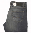 Dark Denim Button Fly Jeans - 34 Leg