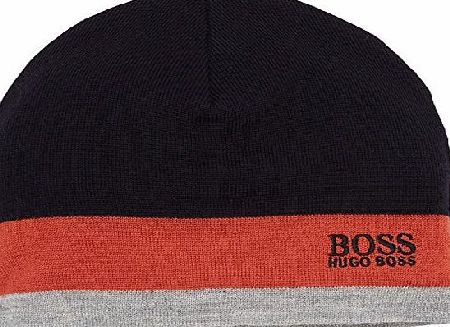 BOSS Green Mens 50323052 Beanie Hat, Orange (Dark Orange 805), One Size