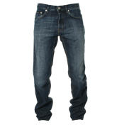 Hugo Boss Mid Blue Straight Leg Jeans (Scout 1)