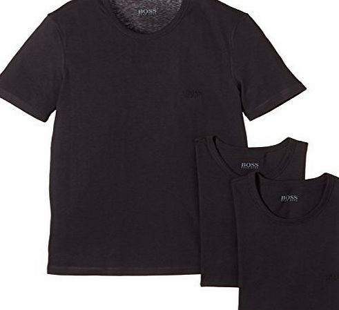 BOSS Hugo Boss Three Pack of Crew Neck T-Shirts Black L