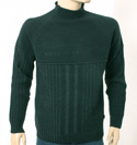 Mens Boss Black High Neck Ribbed Design Wool Sweater