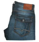 Orange 25 Patch Remember Straight Leg Jeans